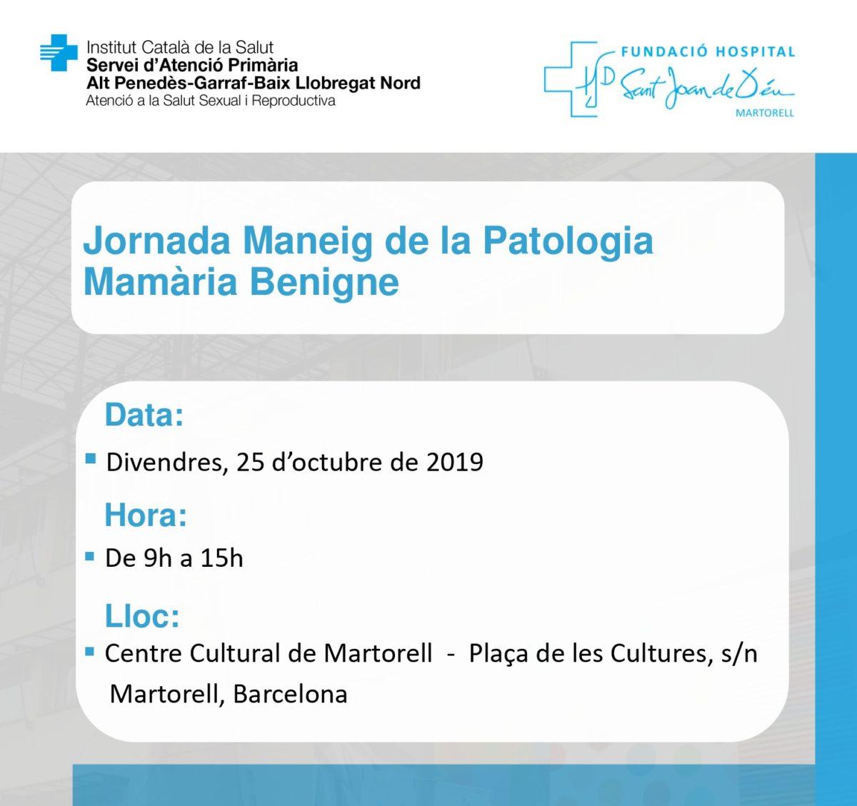 Jornada Maneig Patologia Mamària FHSJDM 251019