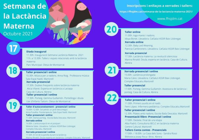 Setmana Lactància Materna 2021 FHSJDM