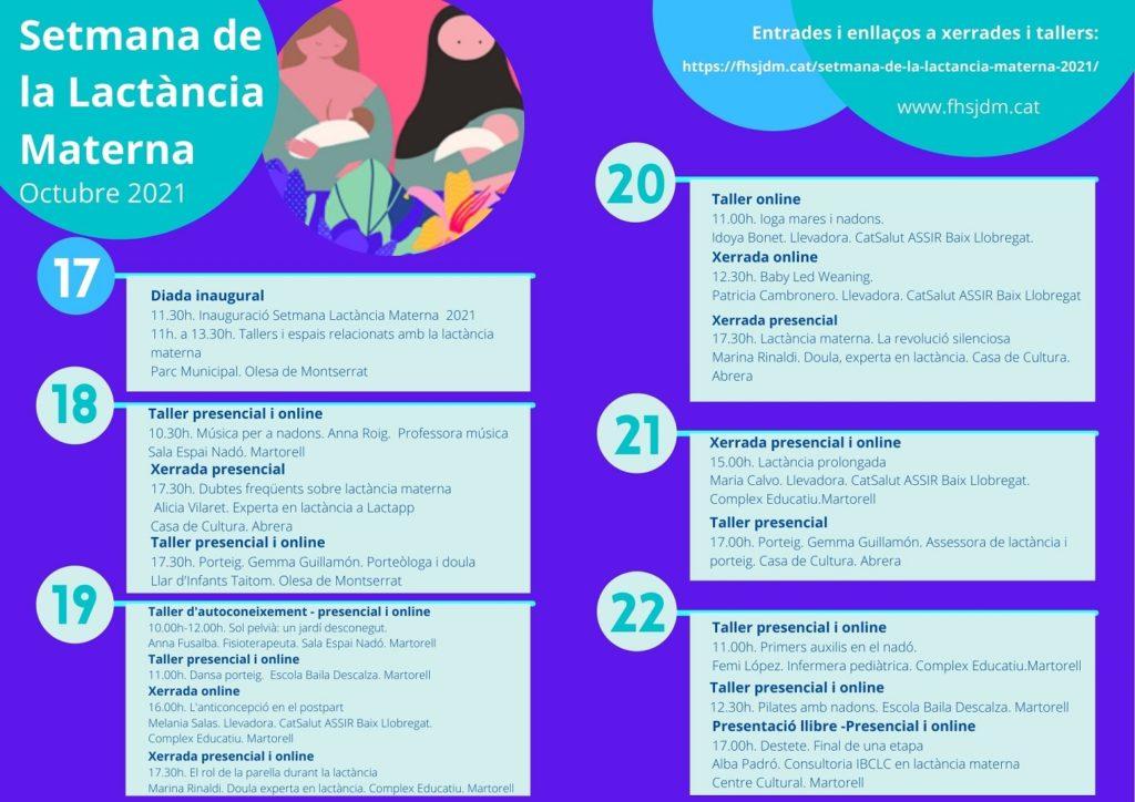 Setmana Lactància Materna FHSJDM 2021