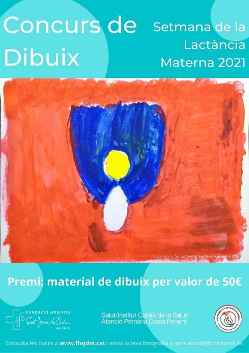 Concurs dibuix Setmana Lactància Materna 2021 FHSJDM