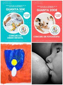 Guadornats concursos Setmana Lactància Materna FHSJDM