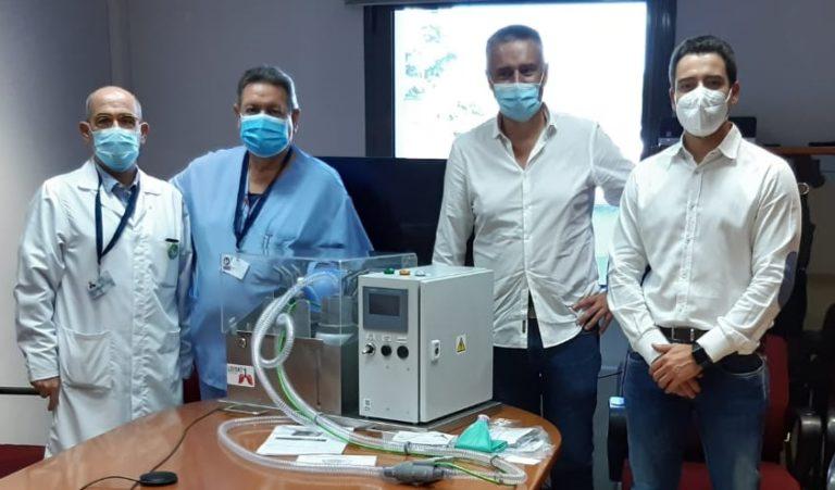 Entrega respiradors Leitat a la FHSJDM