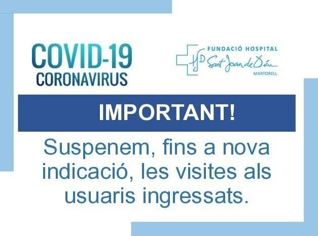 Suspensió visites COVID19 FHSJDM