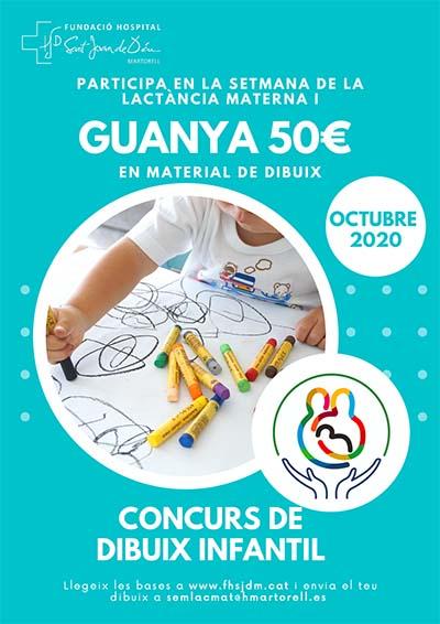 Concurs de dibuix infantil Setmana de la lactància