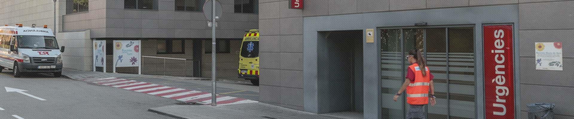 Vista extreior de la entrada a Urgències de l'edifici de la FHSJDM